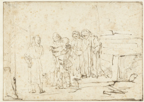 Rembrandt Harmenszoon van Rijn. Tobias and the Angel Taking Leave of Raguel