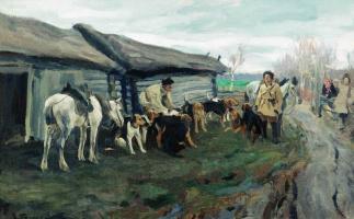 Алексей Степанович Степанович (1858-1923). Сбор на охоту. 1900-е