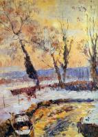 Альберт-Чарльз Лебоург. Снег на закате