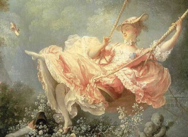 Jean Honore Fragonard. Happy to swing (fragment)