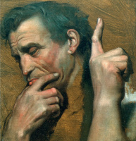 "Жан Огюст Доминик Энгр. Портрет Микеланджело. Этюд к картине ""Апофеоз Гомера"""