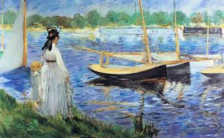 Edouard Manet. Bank of the Seine near Argentea