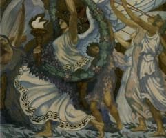 """Жан Дельвиль. Ангел победы. Эскиз мозаики """"Победа"""""""