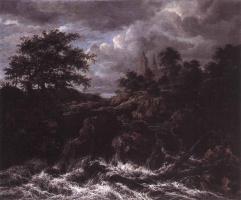 Якоб Исаакс ван Рейсдал. Водопад у церкви