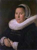 Франс Хальс. Портрет пожилой женщины с сложенными руками