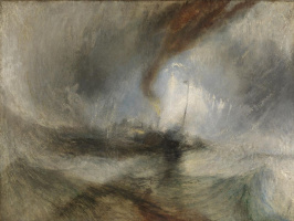 Joseph Mallord William Turner. Snow storm. The ship at the entrance to the harbour (Blizzard)