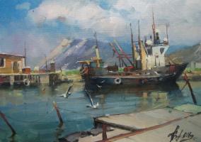 Sergey Anatolevich Bondaryuk. Gulls over the sea. Utrish.