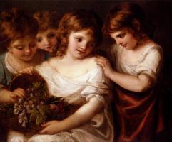 Ангелика Кауфман. Четверо детей с корзиной фруктов