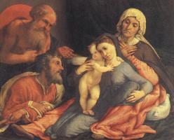 Лоренцо Лотто. Мадонна с младенцем