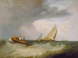 Джозеф Мэллорд Уильям Тёрнер. Рыбак из Шоберинесса окликает корабль из Уитстебла