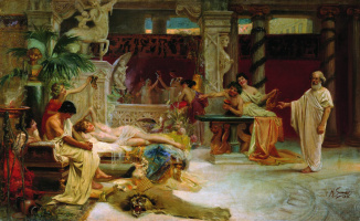 Генрих Ипполитович Семирадский. Socrates finds his student Alcibiades from the Thais