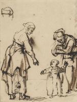 Карел Фабрициус. Две женщины с ребенком. Этюд