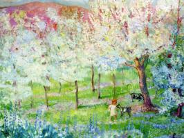 Анри Лебаск. Весенний пейзаж