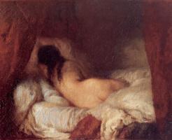 Jean-François Millet. Sleeping Nude