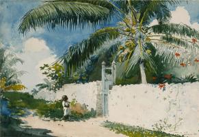 Winslow Homer. A garden in Nassau