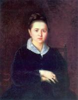 Василий Григорьевич Перов. Портрет Анны Ивановны Сергеевой (Шеиной). (Портрет неизвестной)