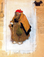 Lev Samoilovich Bakst (Leon Bakst). Costume design for the pantomime Heart Marquise