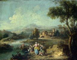 Заис Джузеппе. Пейзаж с рыбаками