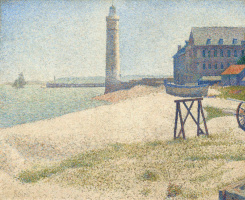 Georges Seurat. Refuge and a lighthouse of Honfleur