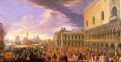 Лука Карлеварис. Прием французского посла в Венеции