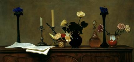Nikolay Y. Anokhin. Flowers on piano