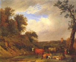 Паулюс Поттер. Пастухи с крупным рогатым скотом