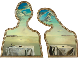 Salvador Dali. Two heads full of clouds
