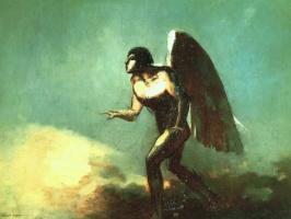 Одилон Редон. Крылатый человек (Падший ангел)
