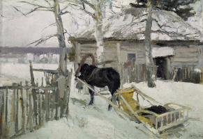 Konstantin Alekseevich Korovin. In the winter