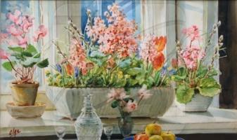 Ольга Александровна Романова. Цветы на окне
