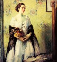 Фернан Туссен. Молодая девушка с букетом