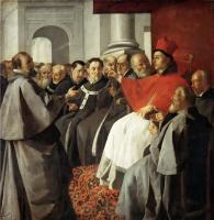 Франсиско де Сурбаран. Святой Бонавентура на Лионском соборе