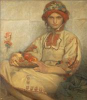 Альфонс Муха. Хорватская девушка с яблоками