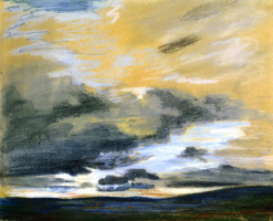 Eugene Delacroix. The sky at dusk