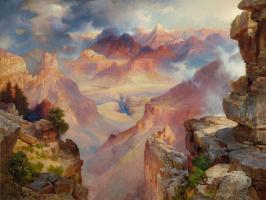 Гранд-Каньон Аризоны на закате