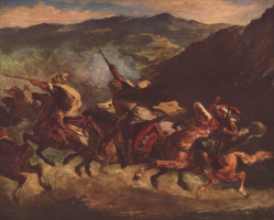 Eugene Delacroix. Moroccan fantasy