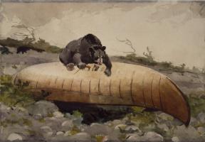 Уинслоу Хомер. Медведь и каноэ
