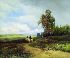 Фёдор Александрович Васильев. Пейзаж с облаками