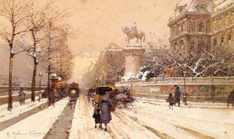Эжен Галиен-Лалу. Париж зимой