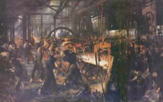 Adolf Friedrich Erdmann von Menzel. Rolling mill