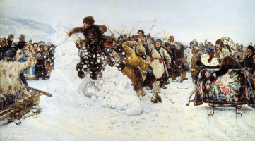 Василий Иванович Суриков. Взятие снежного городка
