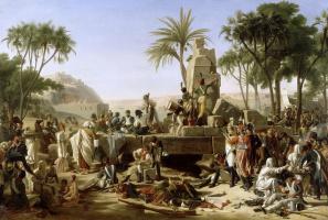 Жан Шарль Тардье. Бивуак французской армии в Асуане, Египет