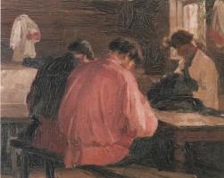 Иван Семенович Куликов. Деревенские портные. 1897
