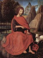 Ганс Мемлинг. Святой Иоанн Креститель. Диптих Святого Иоанна и святой Вероники. Левое крыло
