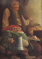 Джеймс Кристенсен. Гном и крестьянин