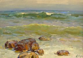 Аркадий Ефимович Стрелов. Море у Ялты