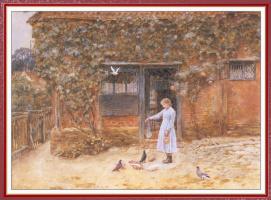 Хелен Аллингем. Девушка с голубями