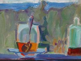 Елена Генриховна Гуро. Натюрморт на фоне пейзажа