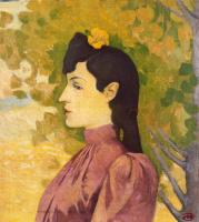 Аристид Майоль. Желтый цветок в волосах