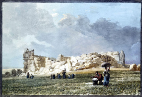 Жан-Пьер-Лоран Уэль. Руины финикийского храма в Казал Качча